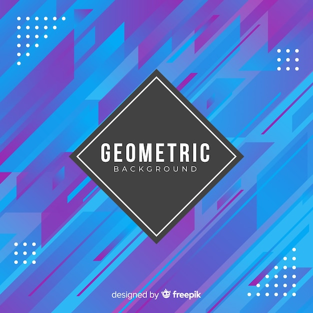 Fond de forme géométrique dégradé plat Vecteur gratuit