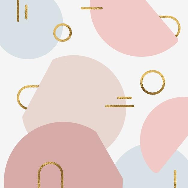 Fond de formes abstraites avec accent doré Vecteur Premium