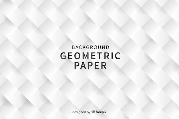 Fond de formes carrées géométriques dans le style de papier Vecteur gratuit