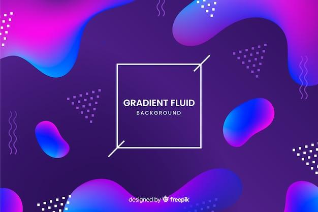 Fond de formes fluides 3d Vecteur gratuit