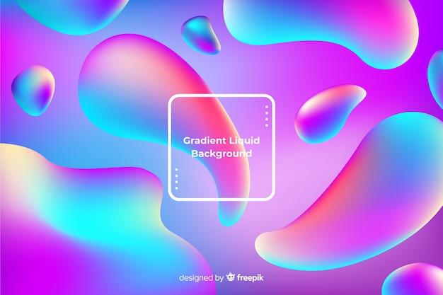 Fond de formes fluides colorées Vecteur gratuit