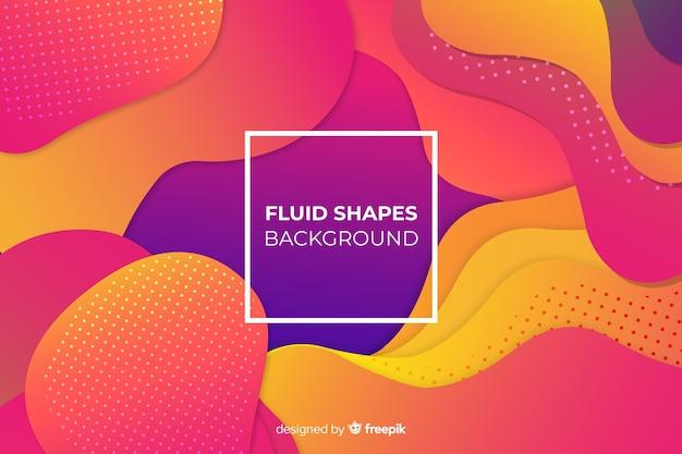 Fond de formes fluides dégradé coloré Vecteur gratuit