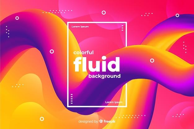 Fond de formes fluides dégradés Vecteur gratuit