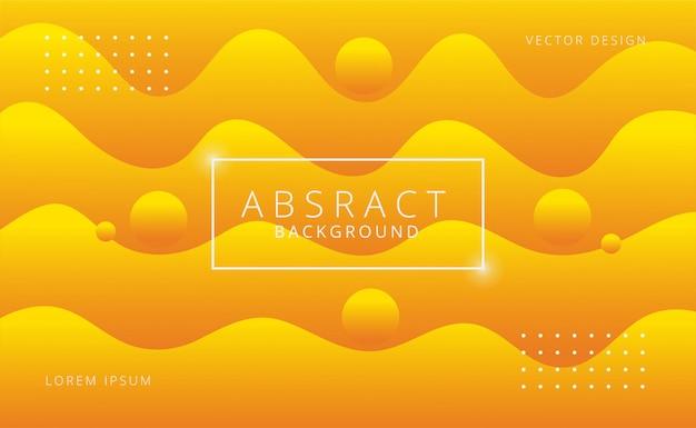 Fond de formes de flux abstrait moderne Vecteur Premium