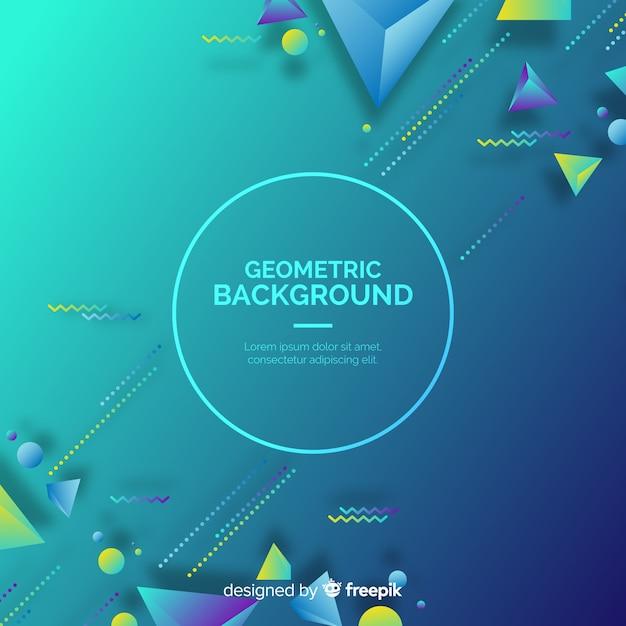 Fond De Formes Géométriques 3d Dégradé Vecteur gratuit