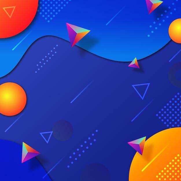 Fond de formes géométriques abstract3d Vecteur Premium