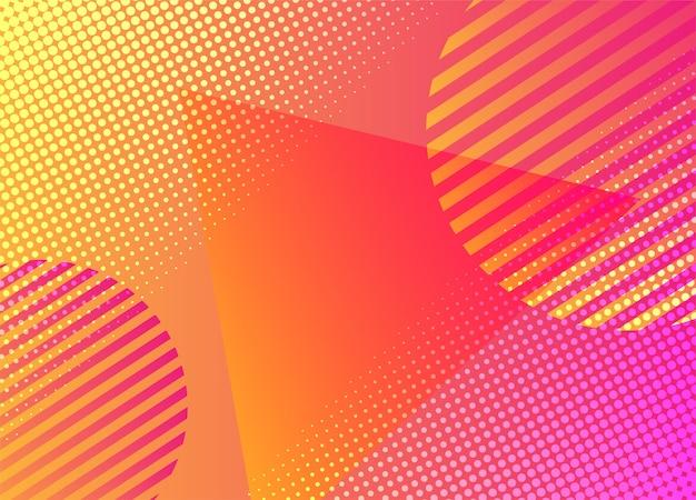 Fond de formes géométriques colorées. Vecteur Premium
