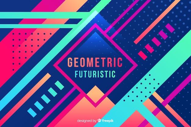 Fond de formes géométriques dégradé coloré Vecteur gratuit