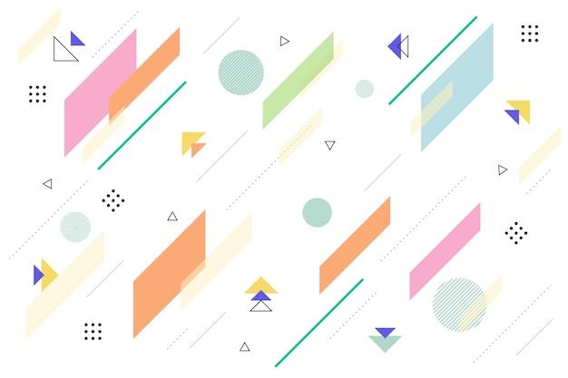 Fond De Formes Géométriques Design Plat Vecteur gratuit