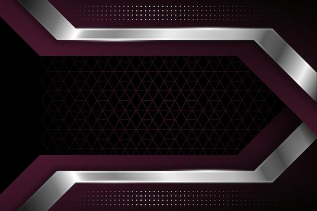 Fond De Formes Géométriques élégantes Réalistes Vecteur gratuit