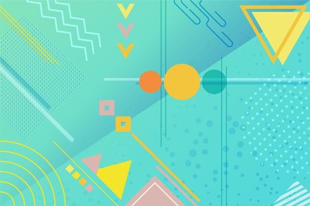 Fond de formes géométriques plats Vecteur gratuit