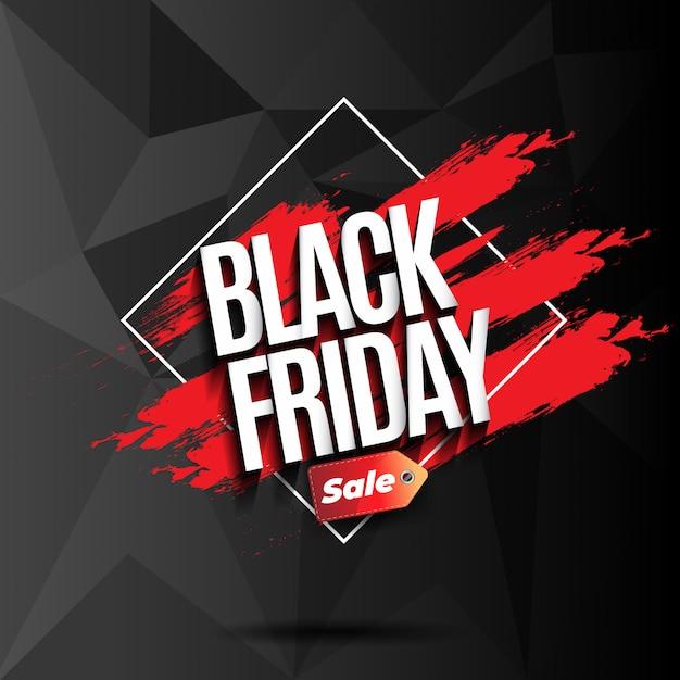 Fond avec des formes géométriques pour vendredi noir Vecteur Premium