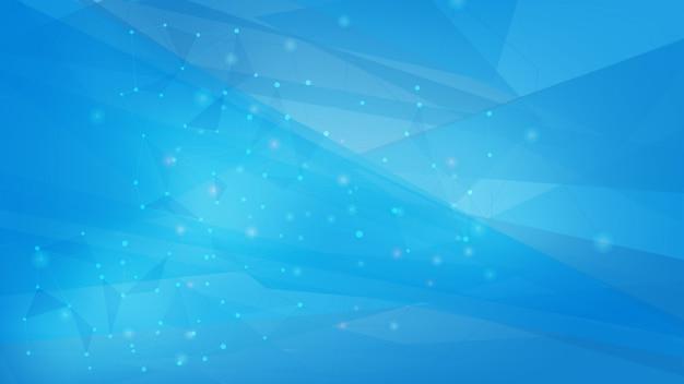 Fond de formes polygonales de couleur bleue Vecteur Premium