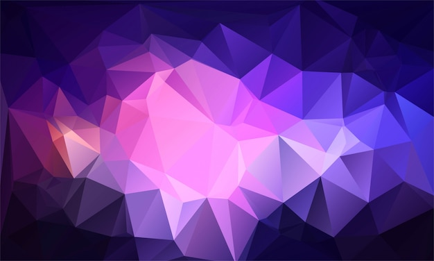 Fond De Formes De Triangle Coloré Low Poly Abstrait Vecteur gratuit