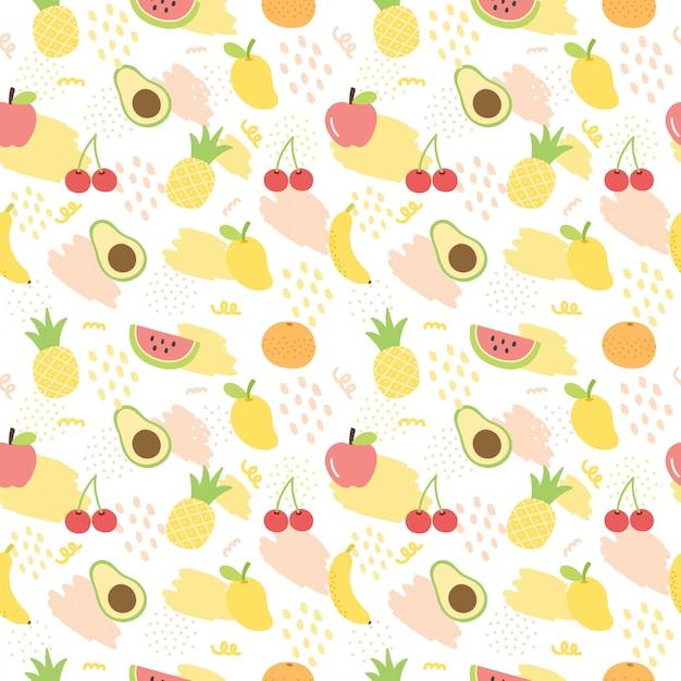 Fond De Fruits D'été. Vecteur Premium