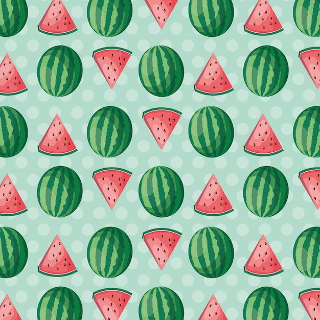 Fond de fruits tropicaux Vecteur gratuit