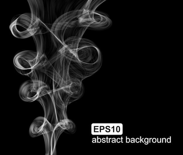 Fond de fumée abstraite de vecteur. Vecteur Premium