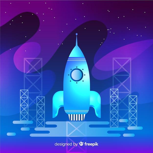 Fond de fusée dégradé sombre Vecteur gratuit