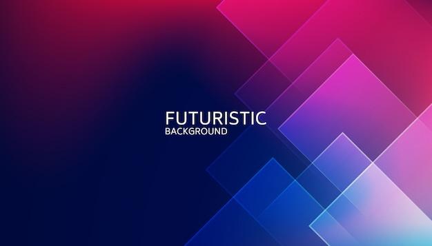 Fond futuriste abstrait forme géométrique bleu Vecteur Premium