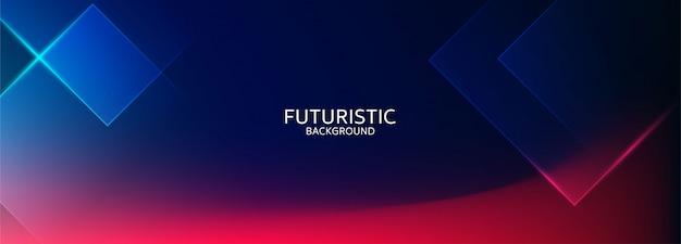 Fond Futuriste Abstrait Forme Géométrique Bleue Vecteur Premium