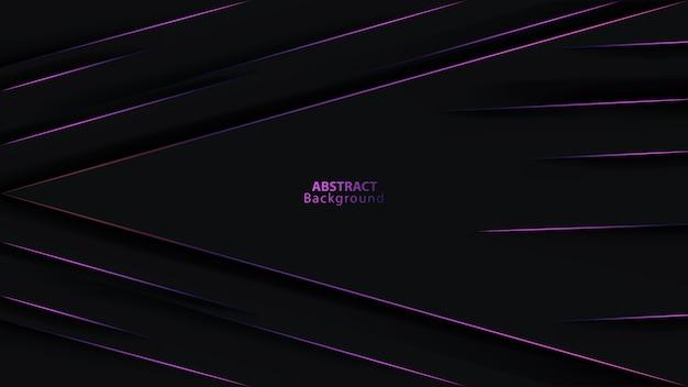 Fond Futuriste De Direction De Flèche Métallique Violet Vecteur Premium