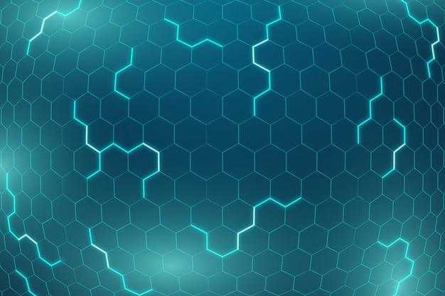 Fond futuriste hexagonal de fond Vecteur gratuit