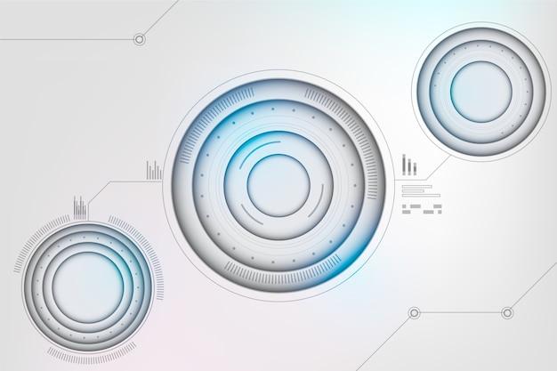 Fond Futuriste De Technologie Vecteur Premium