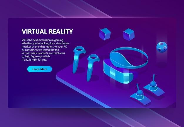 Fond Avec Des Gadgets Pour La Réalité Virtuelle Vecteur gratuit