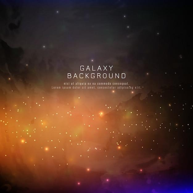 Fond de galaxie d'abstarct Vecteur gratuit