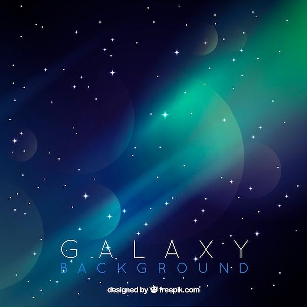Fond de galaxie abstrait Vecteur gratuit