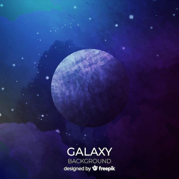 Fond de galaxie aquarelle coloré Vecteur gratuit