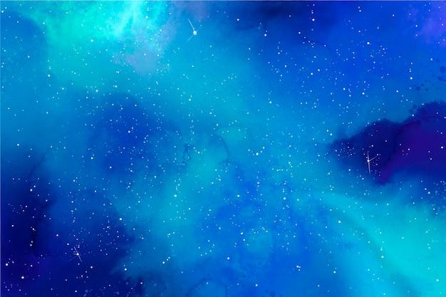 Fond De Galaxie Aquarelle Créative Vecteur gratuit