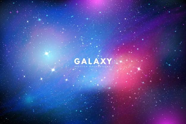 Fond De Galaxie Coloré Avec Des étoiles Brillantes Vecteur gratuit
