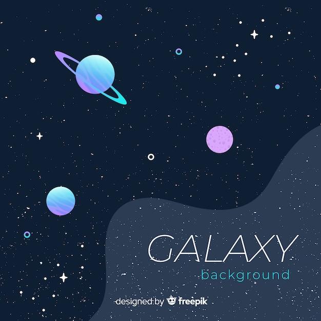 Fond de galaxie colorée avec un design plat Vecteur gratuit