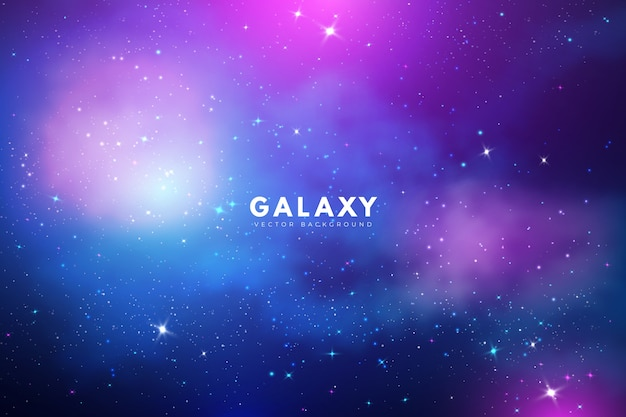Fond De Galaxie Mystérieuse Avec Des Tons Violets Vecteur gratuit