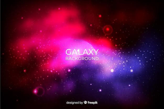 Fond de galaxie réaliste Vecteur gratuit