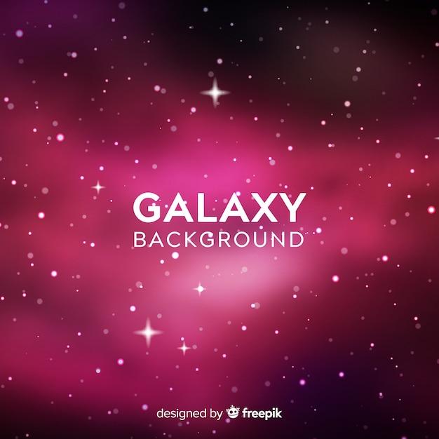 Fond de galaxie avec un style coloré Vecteur gratuit
