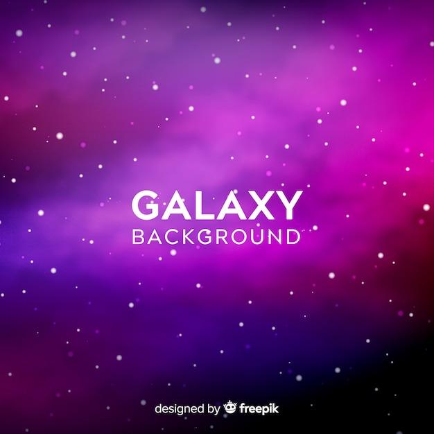 Fond de galaxie violet et rose Vecteur gratuit