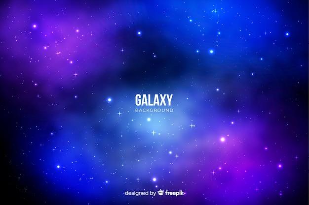 Fond de galaxie Vecteur gratuit