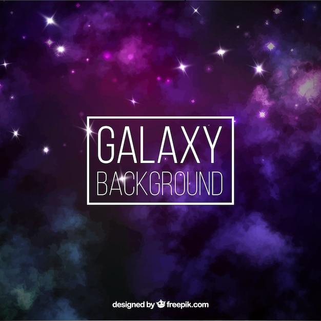 Fond galaxy Vecteur gratuit