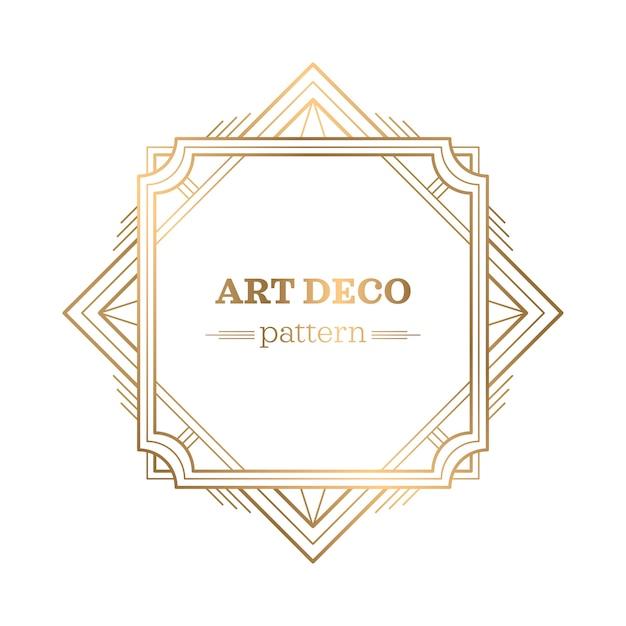 Fond De Gatsby Art Déco Vecteur Premium