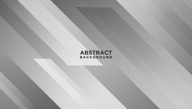 Fond géométrique abstrait blanc Vecteur Premium