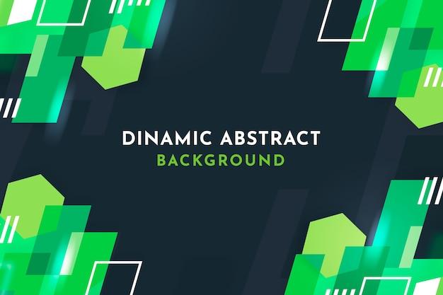 Fond Géométrique Abstrait Vert Vecteur gratuit