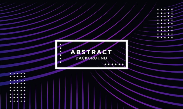 Fond géométrique abstrait violet foncé avec des formes de mélange Vecteur Premium