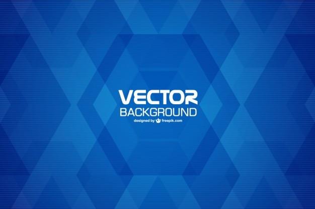 Fond géométrique bleu Vecteur gratuit