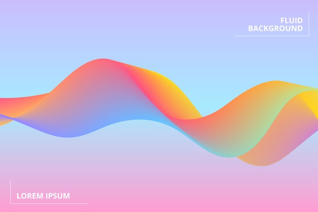 Fond géométrique coloré. composition de formes fluides Vecteur Premium