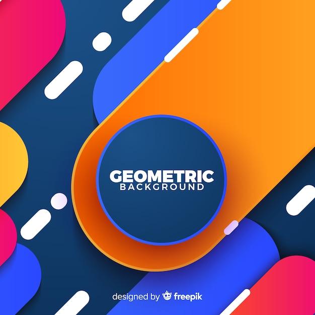 Fond géométrique colroful Vecteur gratuit