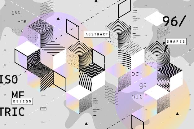 Fond Géométrique De Conception Graphique Vecteur gratuit