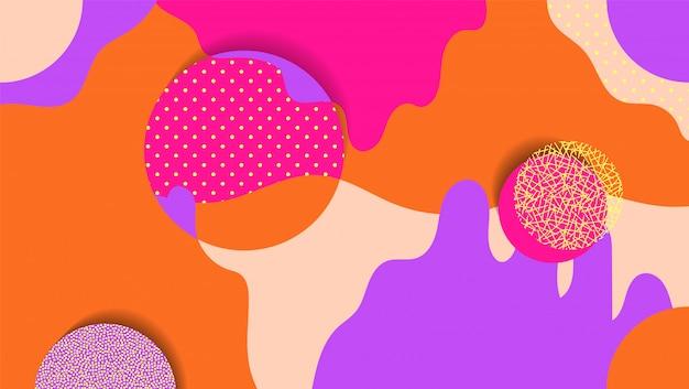 Fond géométrique créatif avec des éléments floraux et des textures différentes. collage. Vecteur Premium