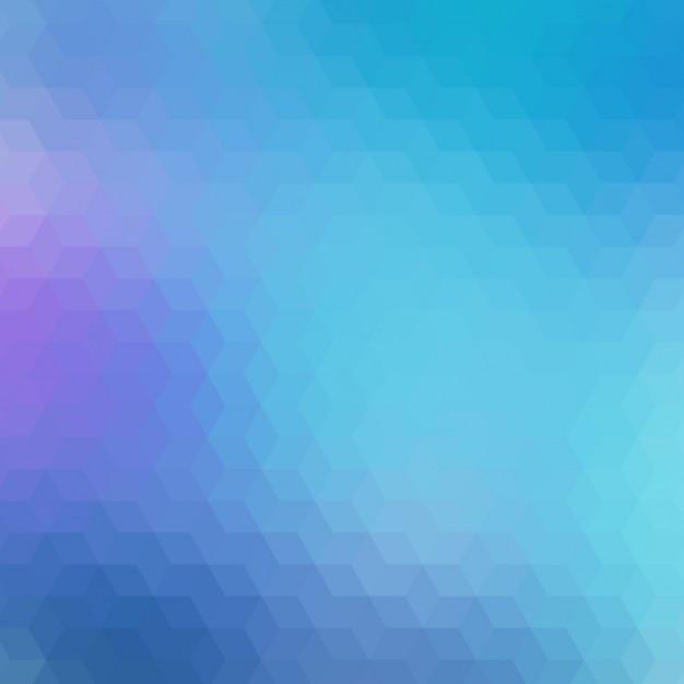 Fond géométrique dans différents tons bleus Vecteur gratuit